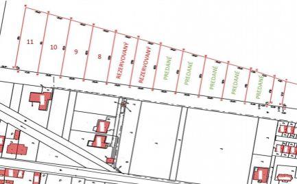 Pozemky v obci Hrádok pre výstavbu RD