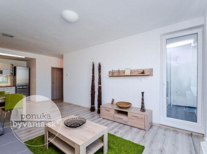 PRENAJATÉ - REZIDENCIE MACHNÁČ, 2-i byt, 60 m2 – zariadený byt, lukratívna NOVOSTAVBA, prestížne bývanie pri HORSKOM PARKU