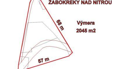 ŽABOKREKY NAD NITROU, Pozemok pre komerčné využitie, 2045m2