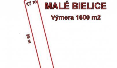 MALÉ BIELICE - stavebny pozemok 1500m2, okr. Partizánske
