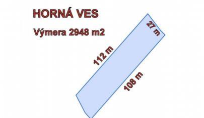 HORNÁ VES , pozemok na okraji obce, 2948 m2