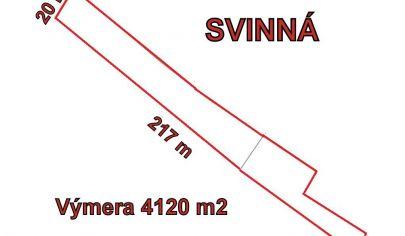SVINNÁ - stavebný pozemok výmera 4120 m2, okr. Trenčín
