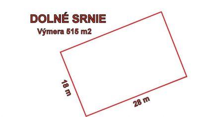 DOLNÉ SŔNIE stavebný pozemok 515 m2, okr. Nové Mesto nad Váhom