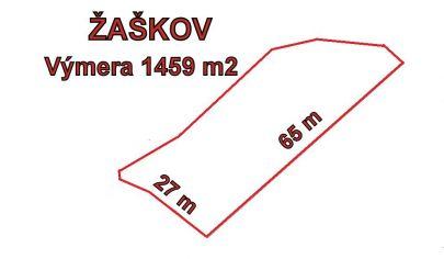 ŽAŠKOV pozemok  výmera 1459m2 okr.Dolný Kubín