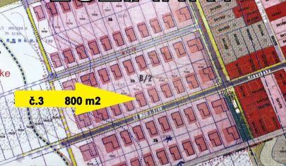 pozemok /3 LUŽIANKY stavebny 800 m2, okr. NITRA