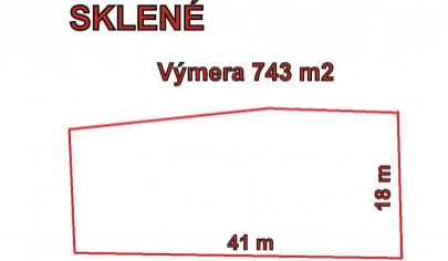 SKLENÉ stavebný pozemok 745m2, okr. Turčianske teplice