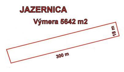 JAZERNICA  pozemok výmera 5642m2, okr. Turčianske Teplice