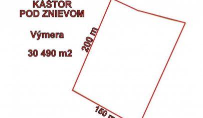 KLÁŠTOR POD ZNIEVOM pozemok výmera 30490 m2, okr. Martin