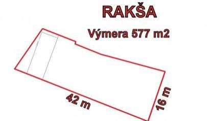 RAKŠA pozemok 577 m2  okr. Turčianské Teplice