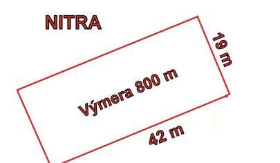 NITRA - DOLNE KRŠKANY pozemok cca 800 m2