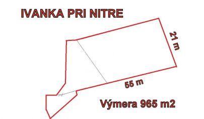 IVANKA PRI NITRE  stavebný pozemok 965 m2, okr. Nitra