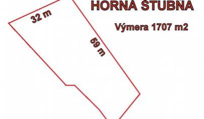HORNÁ ŠTUBŇA stavebný pozemok v krásnom prostredí 1707 m2, okr. Turčianske Teplice