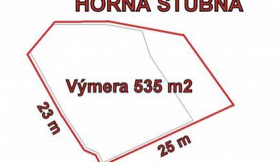 HORNÁ ŠTUBŇA stavebný pozemok 535 m2, okr Turčianske Teplice.
