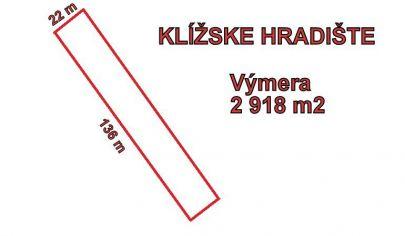 VEĽKÝ KLÍŽ  pozemok 2918 m2, okr. Partizánske