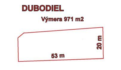 DUBODIEL pozemok 971 m2, okr. Trenčín