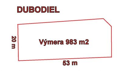 DUBODIEL pozemok 983 m2, okr. Trenčín