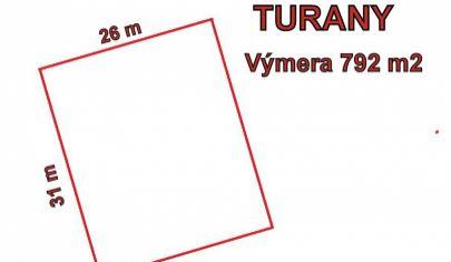 MARTIN Turany - stavebný pozemok, výmera 792 m2