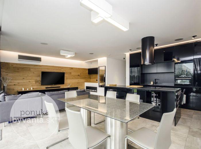 PRENAJATÉ - BELLOVA, 3-i byt, 106 m2 - lukratívna novostavba, ZARIADENÝ ARCHITEKTOM, 120 m2 terasa, 2x parkovacie státie, PRESTÍŽNA REZIDENCIA