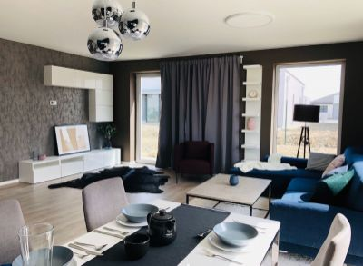 Dvojpodlažné 4i bývanie so záhradou v Bernolákove, kolaudácia 2018