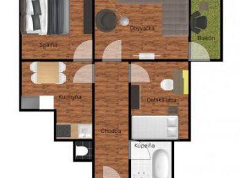 Predáme 3 izbový byt s loggiou - Košice - Staré mesto
