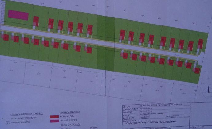Pozemok na výstavbu rodinných domov o veľkosti 31636 m2