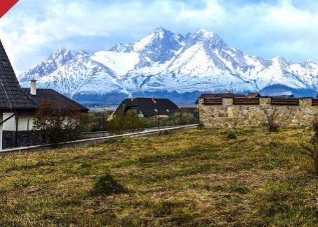 DELTA - LUKRATÍVNY pozemok vo Veľkej Lomnici!!! Krásny výhľad na Vysoké Tatry