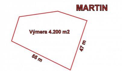 MARTIN Košúty pozemok priemyselná zóna, 4200m2
