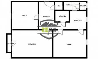 Predaj-3izb.byt-balkón-Za Humnami