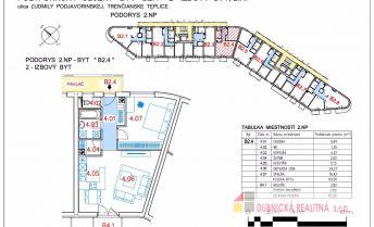 Novostavba, na predaj 2 - izbové byty 63,32 m2 vo výstavbe
