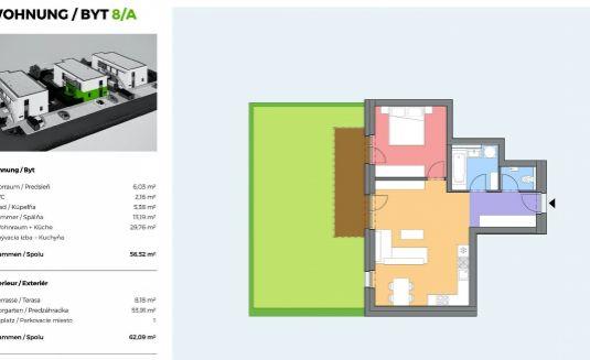 Na predaj - Pohodlné bývanie v Rakúsku v 2 izbovom byte s predzáhradkou