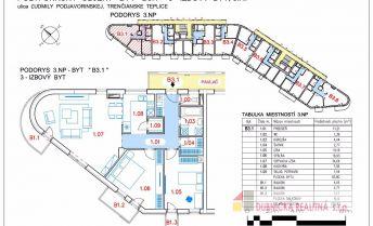 Ponúkame Vám na predaj 3 izb. byt 107,42 m2, Trenčianske Teplice