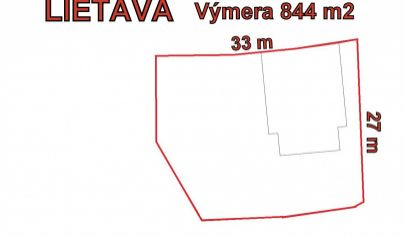 LIETAVA stavebný pozemok 844m2, okr. Žilina