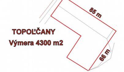 TOPOĽČANY  pozemok v priemyselnej zone, 4.300 m2
