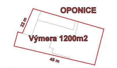 OPONICE stavebny pozemok, výmera 1200 m2, okr. Topoľčany