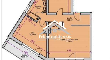 Predaj novostavby 3 izbového bytu - Zvolen, Zl. Potok