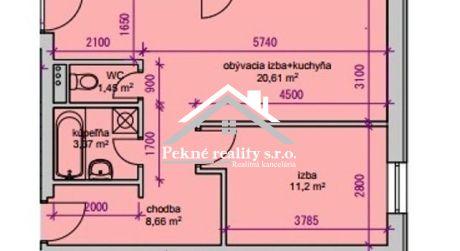 Predaj novostavby 2 izbového bytu - Zvolen, Zl. Potok
