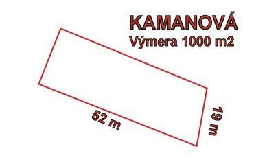 KAMANOVÁ stavebný pozemok 1000 m2 okr. Topoľčany