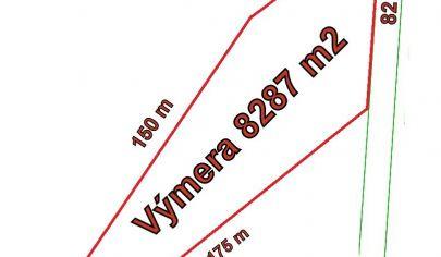 BOŠANY - orná pôda 8287 m2. okr. Partizánske