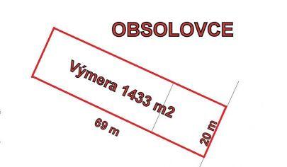 OBSOLOVCE stavebný pozemok výmera 1433 m2, okr. Topoľčany