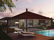 4 izb. bungalov v obci Dolný Bar okres Dunajská Streda s terasou