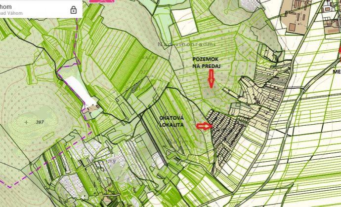 Pozemok na rekreáciu TTP 14965 m2, k.u. Nové Mesto nad Váhom.