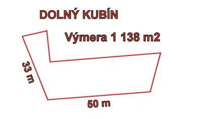 DOLNÝ KUBÍN stavebný pozemok výmera 1138m2.