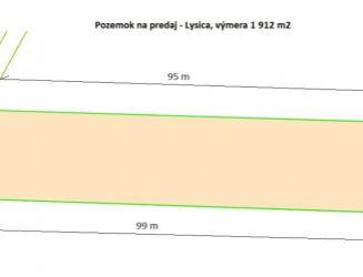 Ponúkam na predaj pozemok v obci Lysica pri Žiline, výmera 1 912 m2