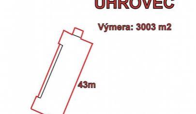 UHROVEC /Látkovce/ -  Výmera pozemku- 3003m  2, okr. Bánovce n/B