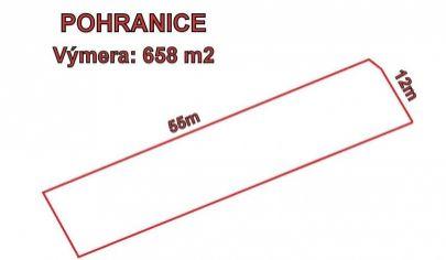 Pohranice, stavebný pozemok,658 m2, okr. Nitra