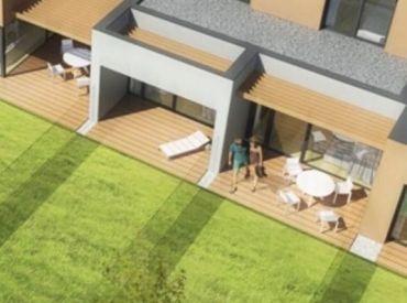 2-izbový byt (2-A) v štandarde s úžitkovou plochou 52,5m2, záhradkou o výmere 58m2 a park. státím v cene