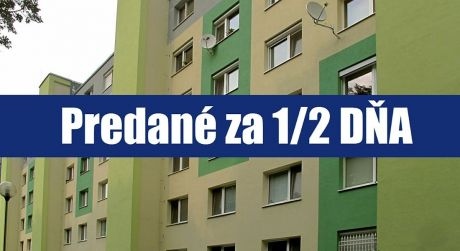 PREDANÉ ZA 1/2 DŇA: Kompletne zrekonštruovaný a zariadený 2 izbový v Petržalke - Ovsišti sa môže stať okamžite vašim domovom