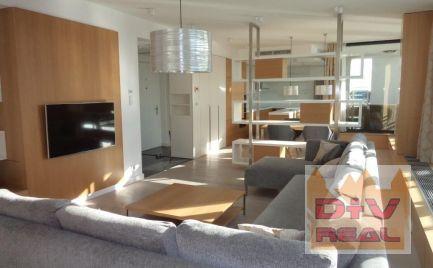 Exkluzívny 3-izbový zariadený byt s nádherným výhľadom,  Ba I, Staré Mesto, Dvořákovo nábrežie, River park, parkovanie pre 2 autá