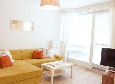 Krásny a priestranný 1-izb s predzáhradkou v novostavbe v Dúbravke, Pri Hrubej Lúke