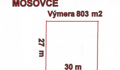 MOŠOVCE pozemok stavebný 803m2  okr. T.Teplice